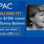LPAC Banner für Tammy Baldwin