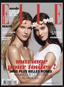 Cover franz. Ausgabe Elle Januar 2013: 2 Frauen