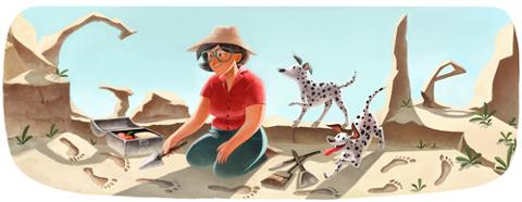 Google Doodle Mary Leakey 100 Jahre