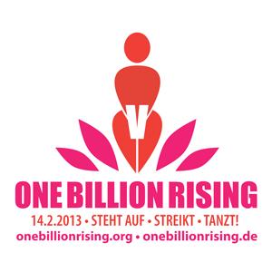 Logo One Billion Rising weiß