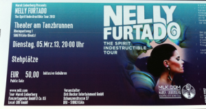 Nelly Furtado Tour 2013 Ticket