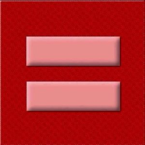 HRC Logo in Rot - Marriage Equality