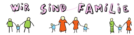 Zeichnung: Wir sind Familie