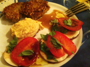 Tomaten-Mozarella vegan