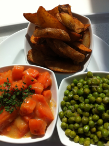 Vegan on the Road Day 11: Potatoes, carrots and peas
