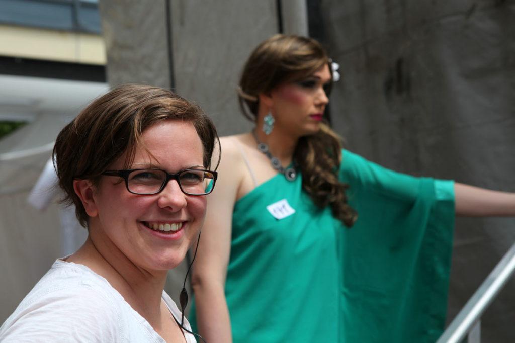 Caroline Frank - Vorstandsmitglied des CSD  Münster e.V. (Fotograf Norman Goebel)
