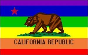 Kalifornische Regenbogenfahne