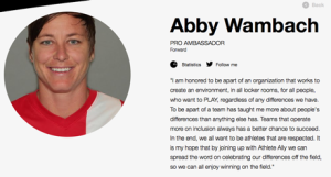 © athleteally.org – Pro Ambassador Abby Wambach