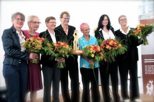 Ann Marie Krewer, Inge von Bönninghause, Renate Rampf, Susanne Baer, Marie Sichtermann, Musikerinnen (von li.)