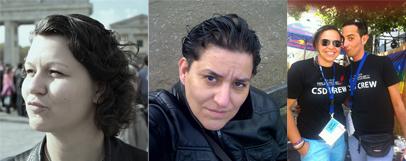 CSD Frankfurt: Anika Pilger, Gaby Wanzke, Marietta Schmidt