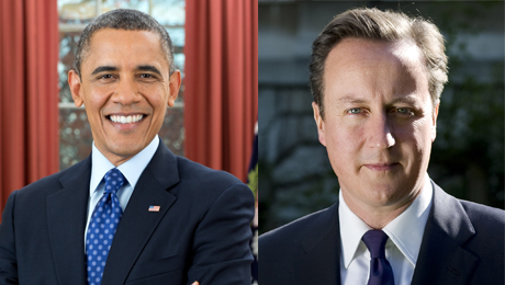 Barack Obama and David Cameron, official Photos together