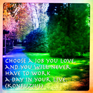 "Konfuzius ""Choose a job you love"""