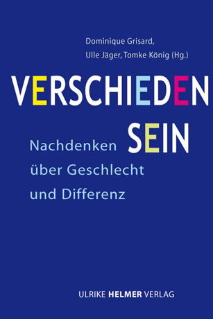 Cover Verschieden Sein, Ulrike Helmer Verlag