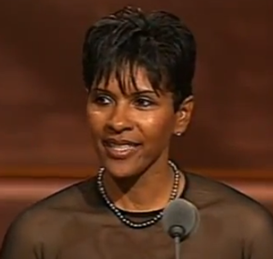Lynette Woodard, Screenshot from Video Enshrinement Speech Basketball Hall of Fame