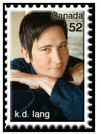k.d. lang Briefmarke