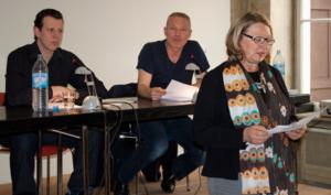 Christian Schüler, Klaus Nierhoff, Irene Franken, szenische Lesung