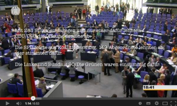 Video – Der Bundestag und die Abstimmung zum Adoptionsrecht.