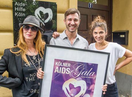 Aidsgala 2014, Esther Schweins, Jochen Schropp, Katy Salié © Danny Frede