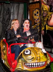 Geisterbahn mit Cornelia Scheel und Hella von Sinnen, @ Sabine Arnolds