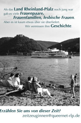 Zeitzeuginnen aus Rheinland-Pfalz gesucht