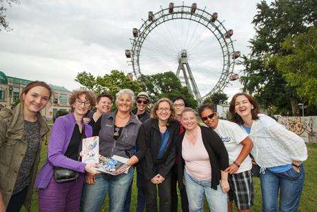 Lesbische Journalistinnen im Wiener Prater, © Reiner Riedler