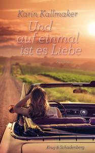 Karin Kallmaker: Und auf einmal ist es Liebe, Buchcover © Krug&Schadenberg