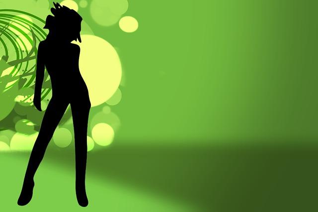 Grafik Tänzerin, © CC0 Public Domain von pixabay