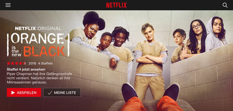 Promotionstil Orange is the New Black, © Netflix