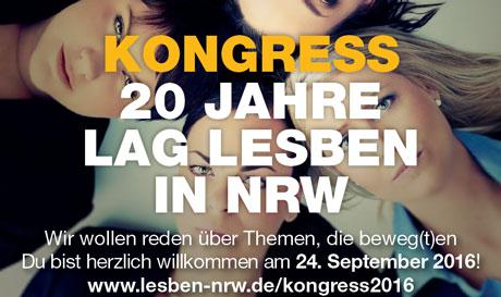 """Ausschnittbild Flyer """"Kongress - 20 Jahre LAG Lesben in NRW"""""""