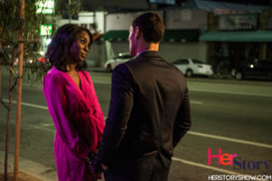 Actors Angelica Ross & Christian Ochoa on the set of Her Story. Photo Credit: Tamea A. photobytamea.com