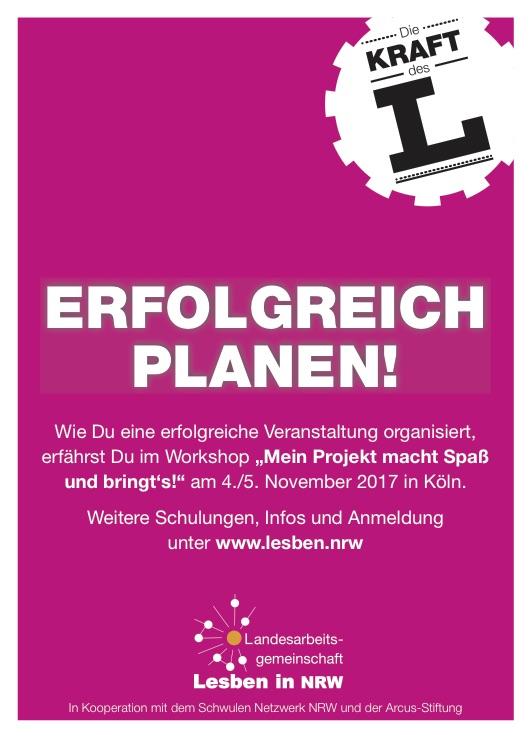 Anzeige LAG Lesben und Schwules Netzwerk Projekt-Workshop