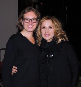 Lara Fabian mit Autorin Larissa