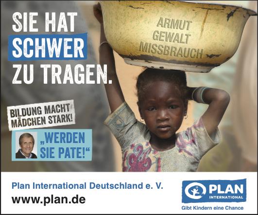 Anzeige Plan International: Bildung macht Mädchen stark!