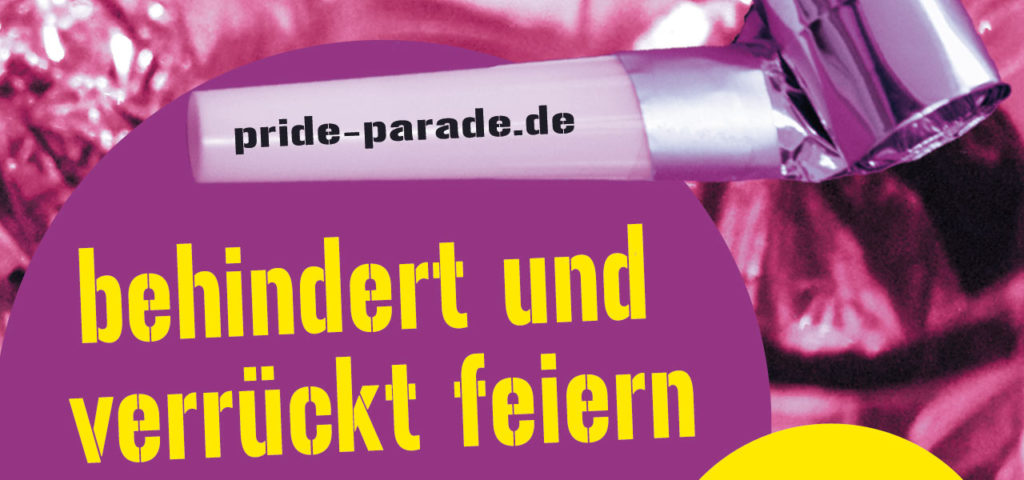 Ausschnitt aus Pride Parade Flyer 2018, © Pride Parade Berlin
