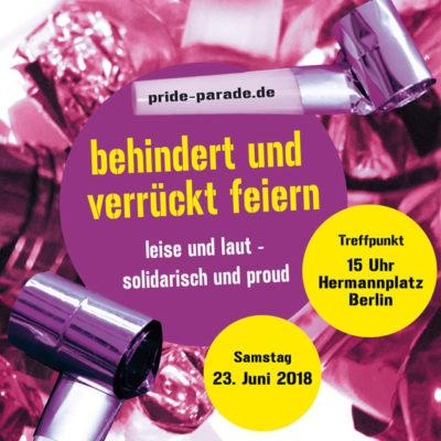 Berlin: Etwas andere Pride Parade am 23. Juni 2018 …