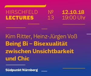 Hirschfeld Lectures No13 – Bisexualität
